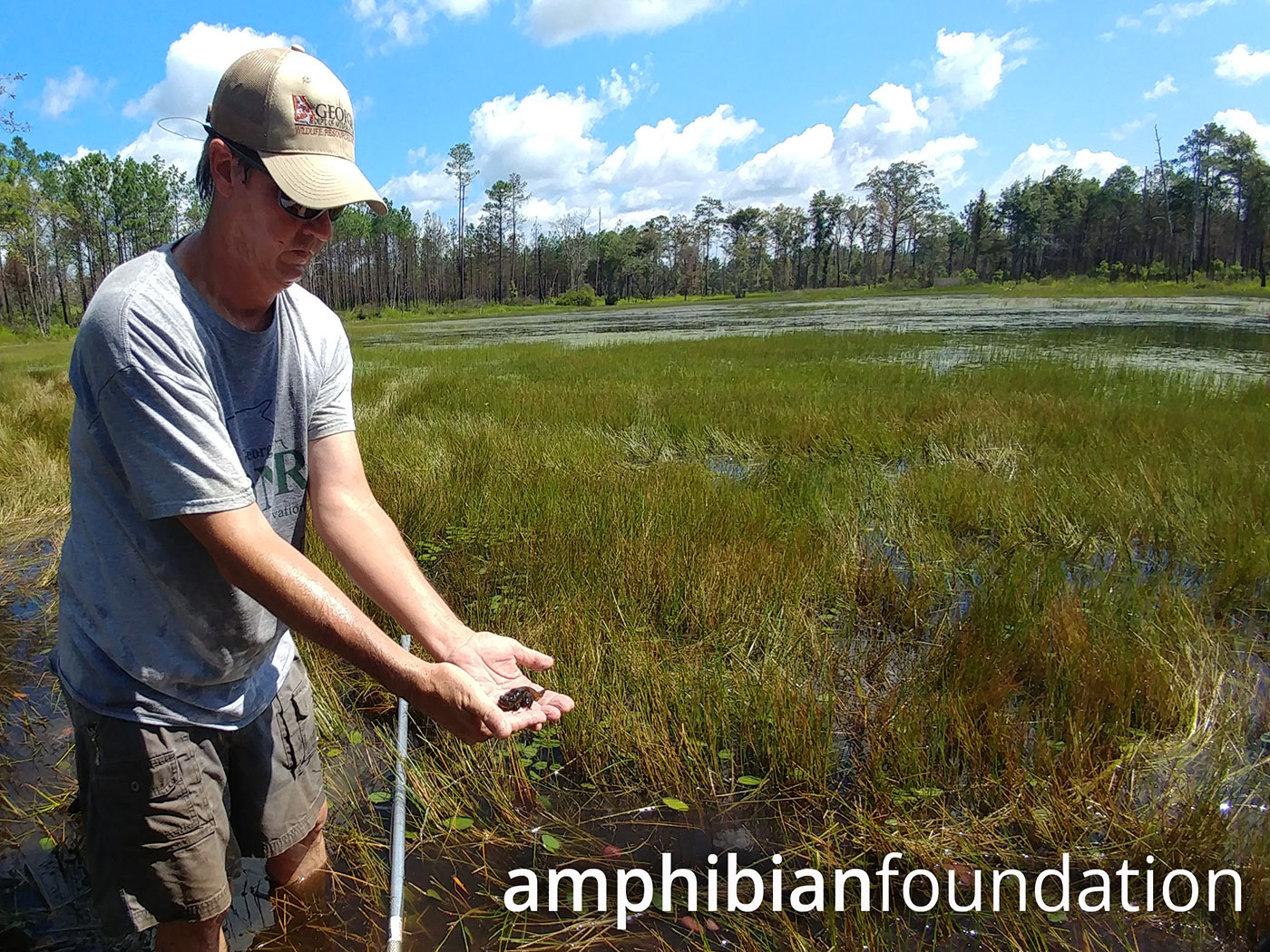 John Jensen with Gopher - Frog Fall Line WMA